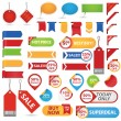 Stock Vector: Big Set of Sale Stickers