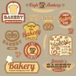 Vintage retro bakery logo badges — Stock Vector