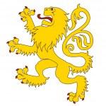 Heraldic lion 24 — Stock Vector