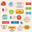 Set of sale stickers and tags — Stock Vector