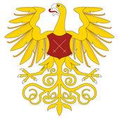 Golden eagle heráldico — Vector de stock