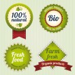 Bio Retro Labels set - Stock Vector