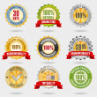 Stock Vector: Badges set
