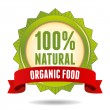 Organic food badge - Stock Vector