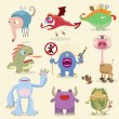 Cartoon monsters collection - Stock Vector