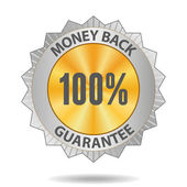 Money back guarantee sign — Stock Vector