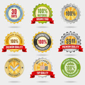 Badges set — Stock Vector