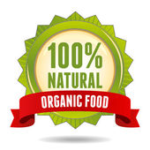Organic food badge — Stock Vector