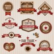 Retro coffee labels - Stock Vector