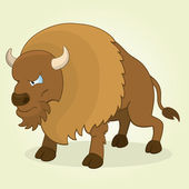 Bison — Stock Vector