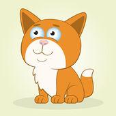 Röd katt赤い猫 — Stockvektor