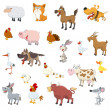 Stock Vector: Farm animals set