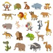 Stock Vector: Africa animals set