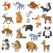 Stock Vector: Forest animals set