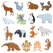Stock Vector: Various Wildlife Animals set