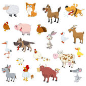 Farm animals set — Stock Vector