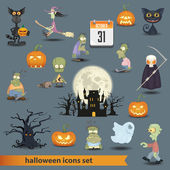 Halloween set 3 — Stock Vector
