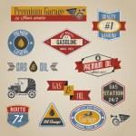 Gasoline labels — Stock Vector