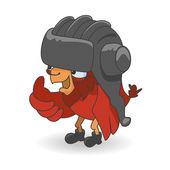 Cartoon Red bird — Stock Vector