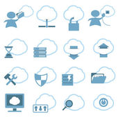 Cloud Hosting Icons set — Stock Vector