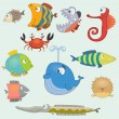 Fish set — Stock Vector #39052983