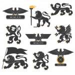 Heraldic set — Stock Vector #39052995
