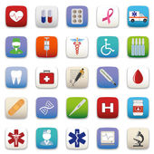 Medical Icon Set — Vector de stock