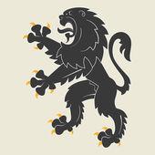 Heraldic lion — Stock Vector