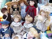 Dolls on Flea Market — Stock Photo