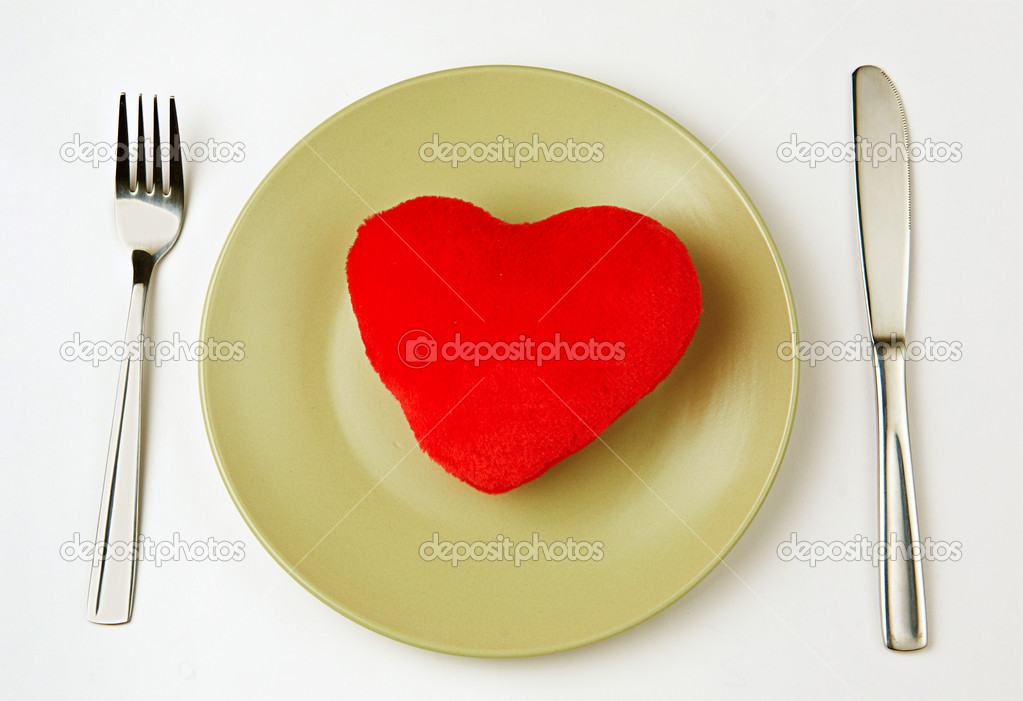 Heart on a plate  Stock Photo #19713489