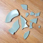 Płyta złamane — Zdjęcie stockowe