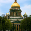Saint Isaac's Cathedral in Saint-Petersburg. - Stock Photo