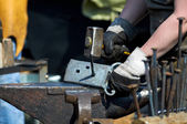 Blacksmith at work. — Stock Photo