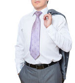 Well dressed man on white — Stock Photo