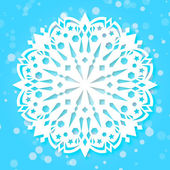 Christmas background. Snowflake. — Stock Vector
