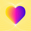 Colorful Vector Heart — Stock Vector