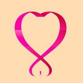 Glossy ribbon heart — Vetorial Stock