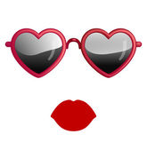 Heart Sunglasses — Stock Vector