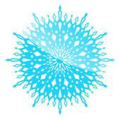 White snowflake — Stock Vector