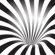 Black And White Tunnel — Stock Vector