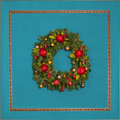 Christmas wreath — Foto de Stock