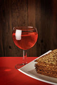 Wine and Matzo on the table — Stock Photo