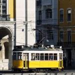 Typical yellow Tram — Stock Photo #12717999