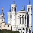 Vertical view of Lyon basilica — Stock Photo