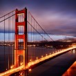 Foto de Stock  : Night scene with Golden Gate Bridge