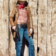 Cowgirl — Stockfoto