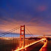 Golden gate bridge di notte — Foto Stock