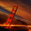Sunset at Golden Gate Bridge — Stock Photo #13887264