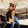 Stock Photo: Bad cowgirl