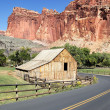 Capitol Reef road - Stock Photo